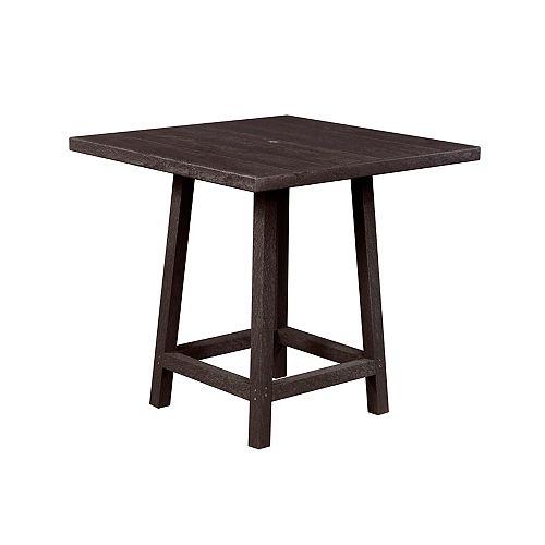 Square 40 inch Pub Table with 40 inch Legs Espresso