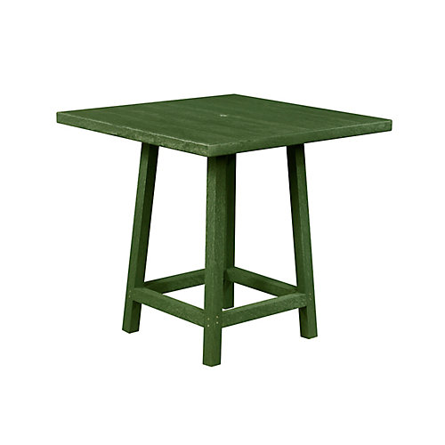 Square 40 inch Pub Table with 40 inch Legs Cactus Green