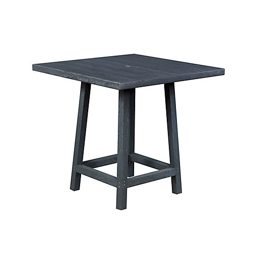 Square 40 inch Pub Table with 40 inch Legs Greystone