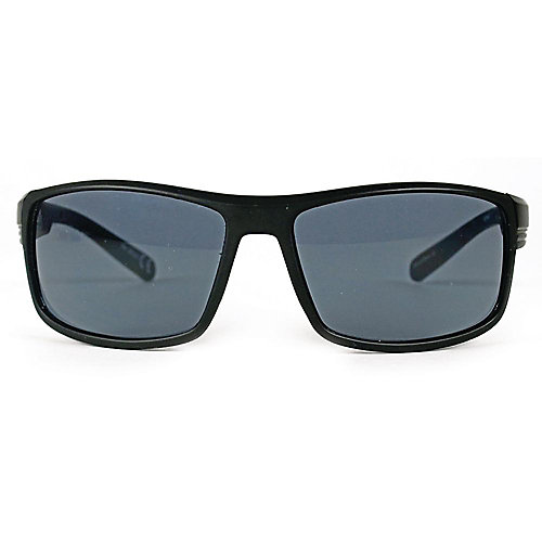 Polarized Black Square Sunglasses with Black Lens