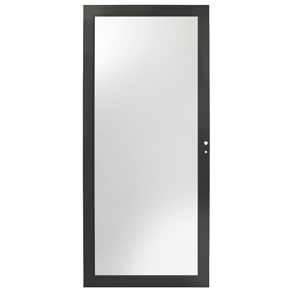 Andersen 4000 Series 34-Inch Full View Interchangeable Storm Door In Black Right Hand