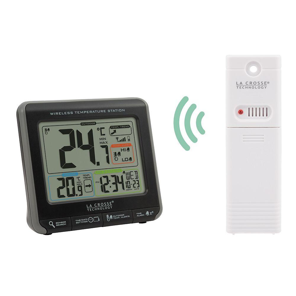 La Crosse La Crosse Wireless Temperature Station with Colourized LCD Display