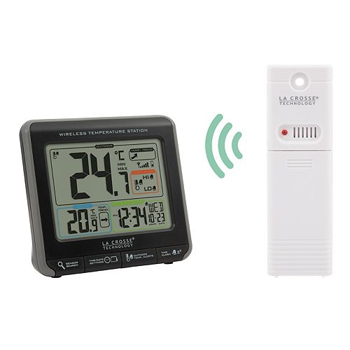 La Crosse Wireless Temperature Station with Colourized LCD Display