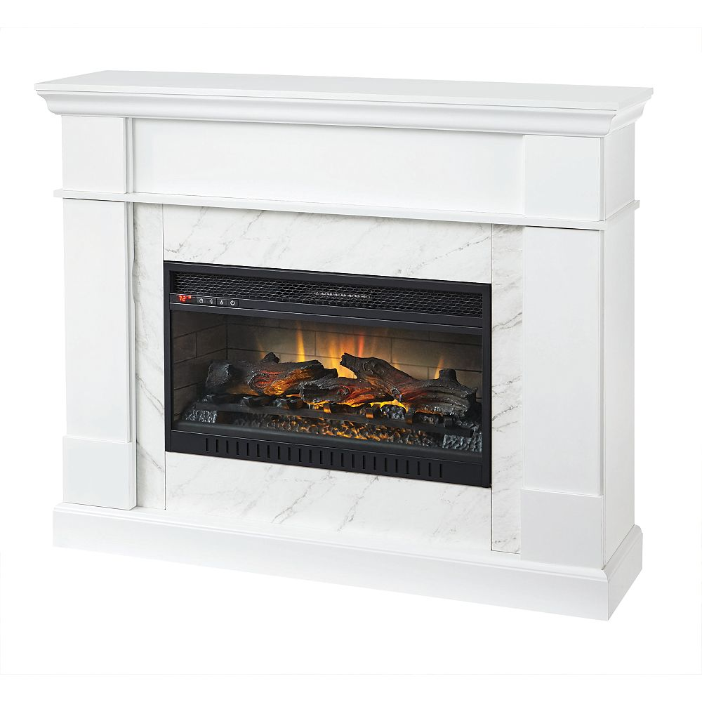 Home Decorators Collection 53-inch Media Mantel Fireplace