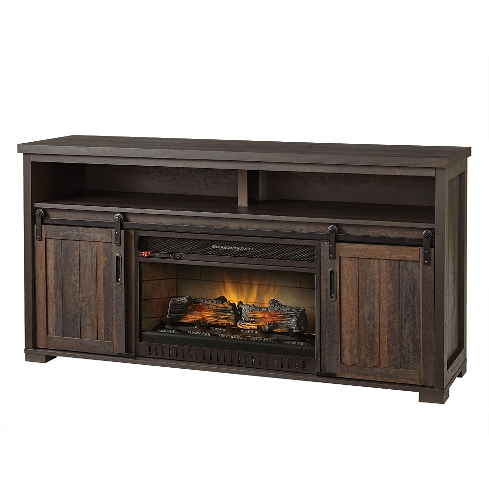 Home Decorators Collection 60-inch Media Console Electric Fireplace