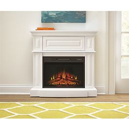 38-inch Electric Fireplace in White