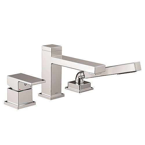 Kyvos One-Handle Low Arc Roman Tub Faucet with Hand Shower