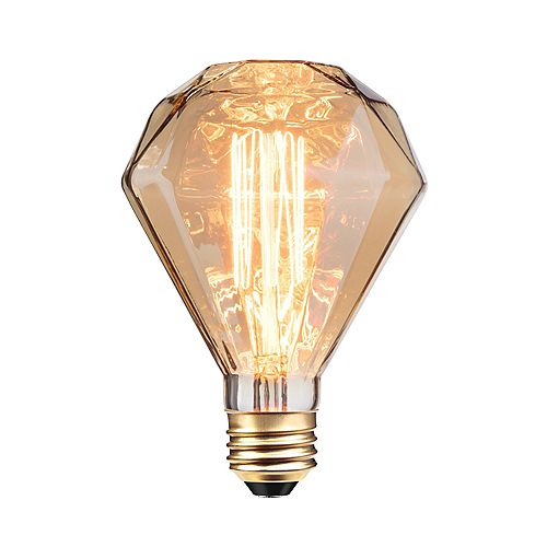 Globe Electric Ampoule incandescente à design Vintage Edison, 40W de Diamante