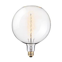 Oversized Round Vintage Edison 100W Clear Glass Dimmable Incandescent Light Bulb