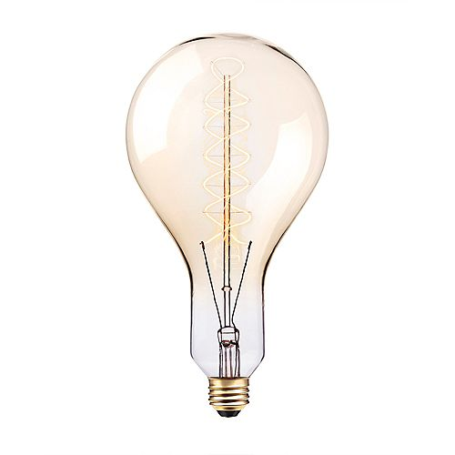 Oversized Vintage Edison Style 100W Clear Glass Dimmable Incandescent Light Bulb