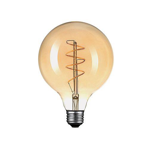 Ampoule DEL ronde surdimensionnée Vintage Edison à intensité variable, 2200K, équivalent à 40W