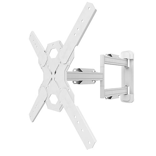 Full Motion Mount for 26-inch to 60-inch TVs, White
