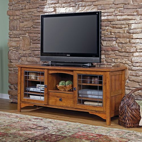 Rose Valley Entertainment Credenza in Abbey Oak