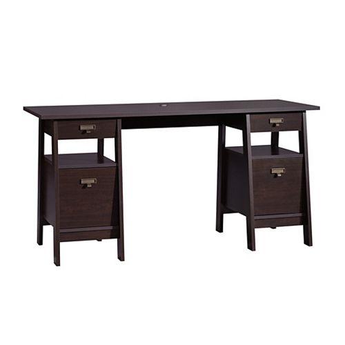 Stockbridge Executive Trestle Desk in Jamocha Wood