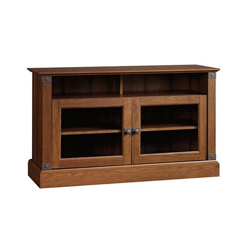 Carson Forge Panel Tv Stand in Washingon Cherry
