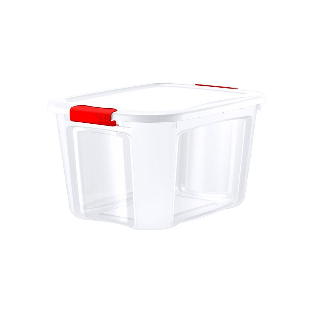 Bella Storage Solution 37.9L Red Locking Lid Storage Totes