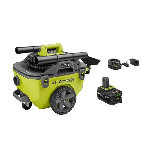 18V ONE+ 6 Gallon Wet/Dry Vacuum Kit with 4.0 Ah Battery