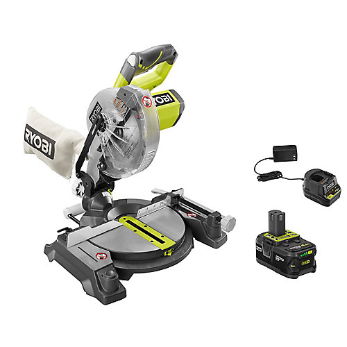 18V ONE+ 7-1/4-inch Mitre Saw Kit with 4.0 Ah Battery
