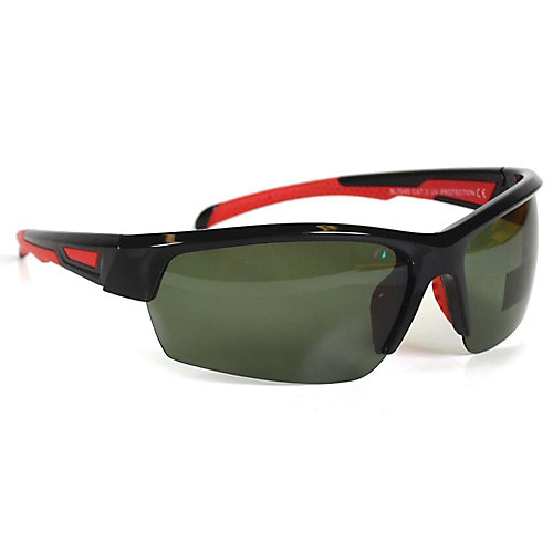 Sport Black with Red Accent Sunglasses