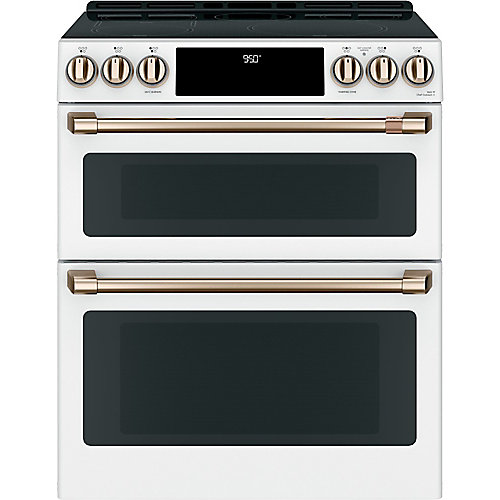 7 cu ft. Induction Double Oven Slide-In Range in Matte White