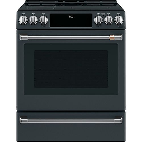 Café 5.7 cu. ft. Electric Slide-In Range with PreciseAir Convection in Matte Black