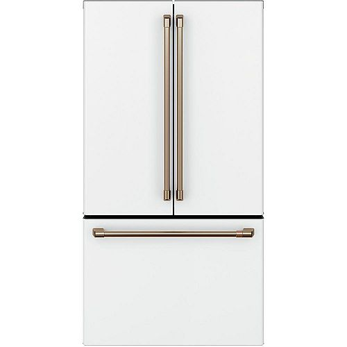 36-inch 23.1 Cu. Ft. Counter-Depth French-Door Refrigerator in Matte White, ENERGY STAR