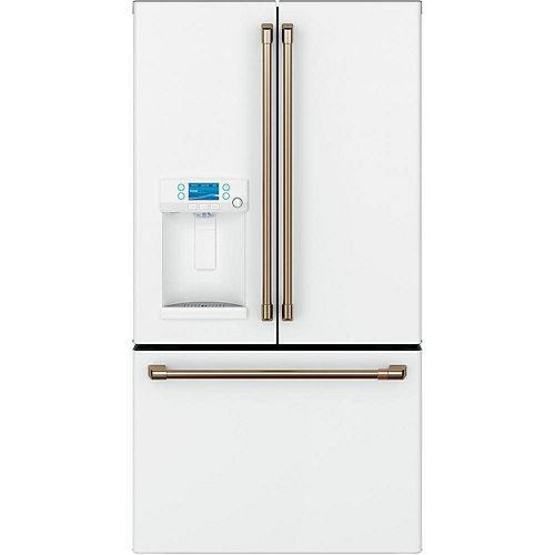 36-inch 22.2 Cu. Ft. Counter-Depth French-Door Refrigerator in Matte White, ENERGY STAR