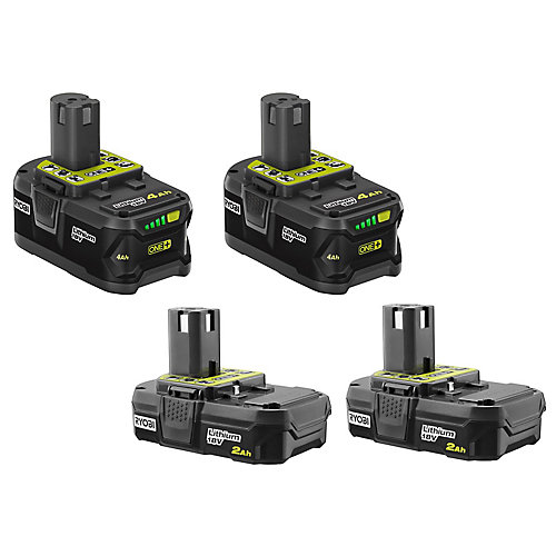 18V ONE+ Battery Kit with (2) 2.0Ah and (2) 4.0Ah Batteries
