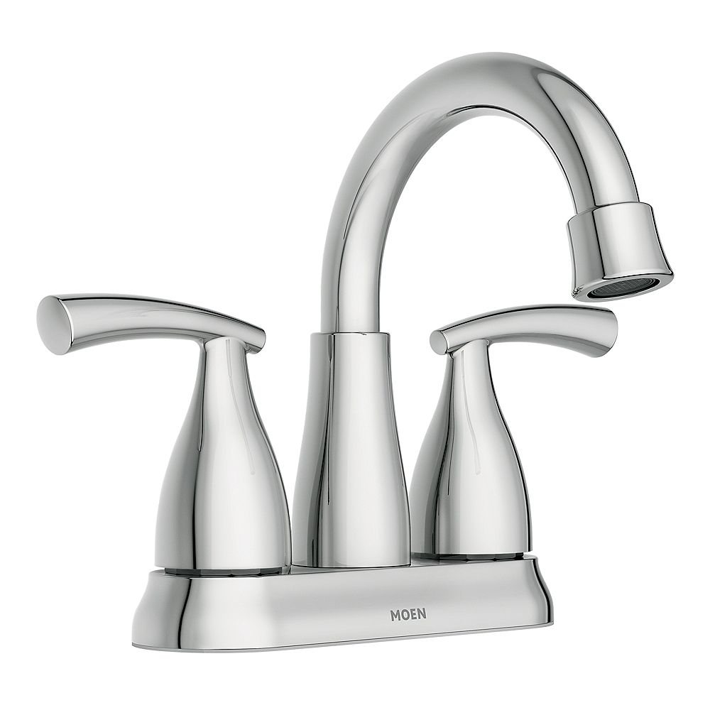 moen essie 2-handle 4-inch centerset bathroom faucet in