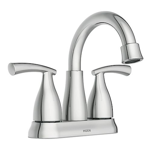 Essie 4-inch Centerset 2-Handle High-Arc Bathroom Faucet in Chrome
