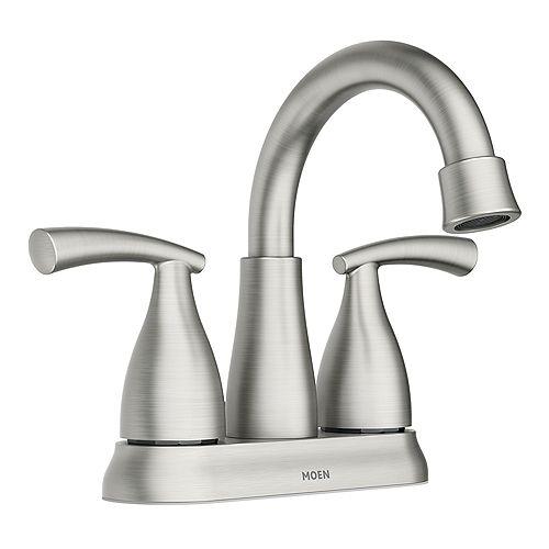 Essie 2-Handle 4-inch Centerset Bathroom Faucet in Spot Resist Brushed Nickel