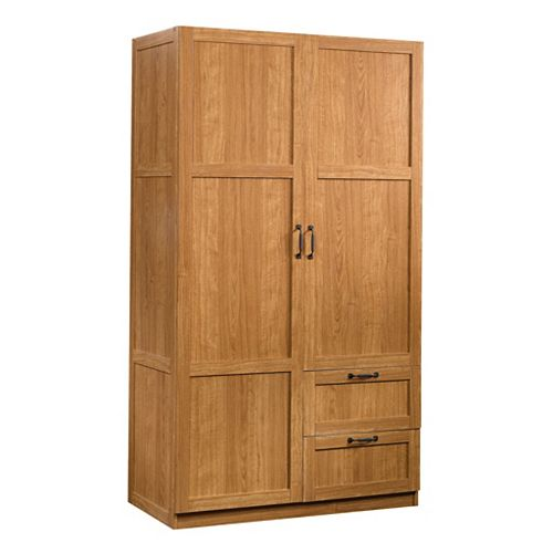 Storage Cabinet - 40 X 19 Deep in Highland Oak