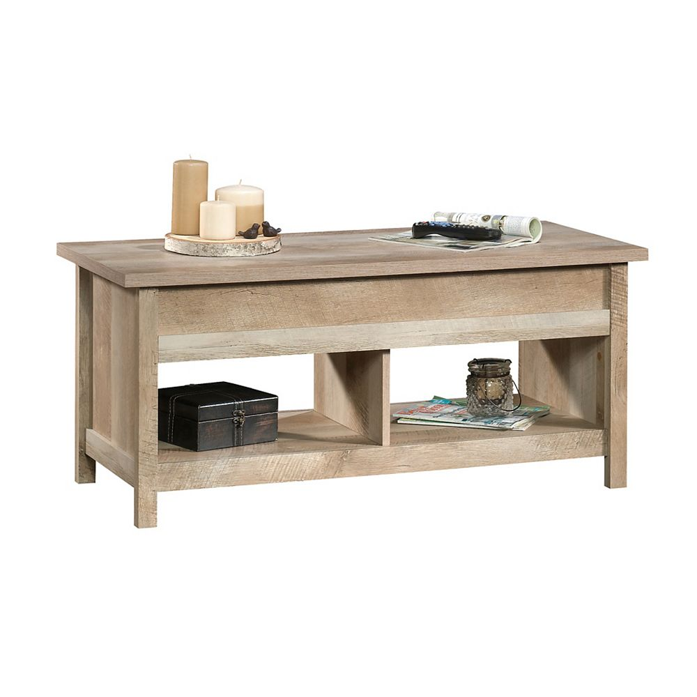 Sauder Woodworking Company Cannery Bridge Lift Top Coffee Table In Lintel Oak The Home Depot Canada