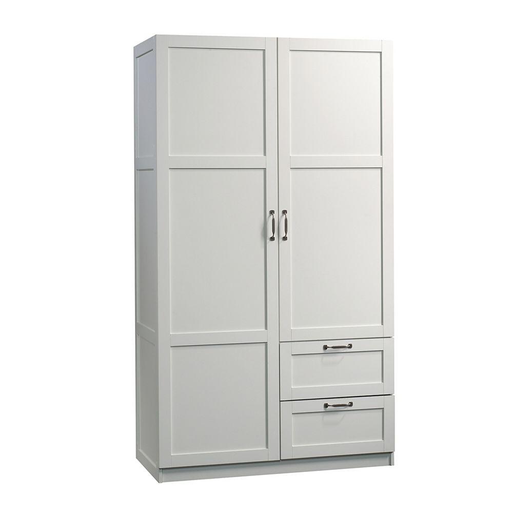 Sauder Woodworking Company Meuble De Rangement 40 X 19 De Profondeur En Blanc Home Depot Canada