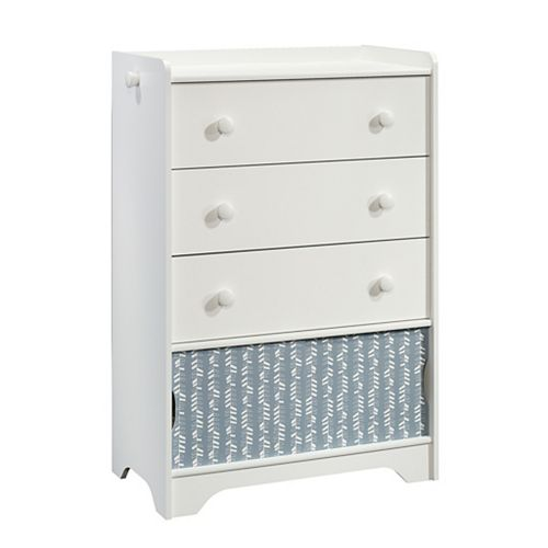 Pinwheel Tall Chest in Soft White
