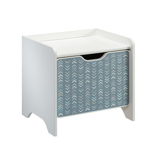 Sauder Woodworking Company Pinwheel Night Stand in Soft White
