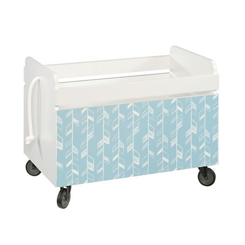 Pinwheel Rolling Toy Box in Soft White