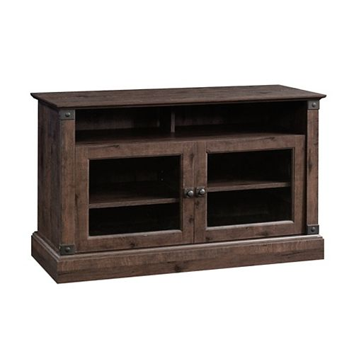 Carson Forge Panel Tv Stand in Coffee Oak