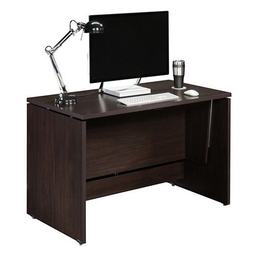 Sit Stand Desk in Jamocha Wood