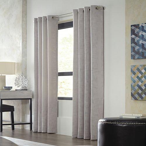 Home Decorators Collection Avignon Simili Lin Texturé Oeillets 132cm x 160cm Gris