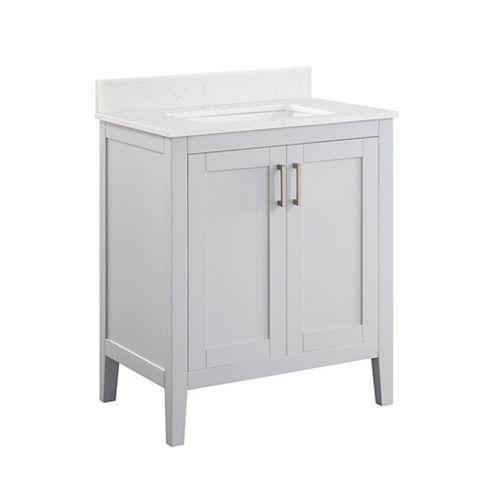 Home Decorators Collection 30-inch Ellia Vanity in Grey