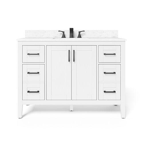 48-inch Ellia Vanity in White