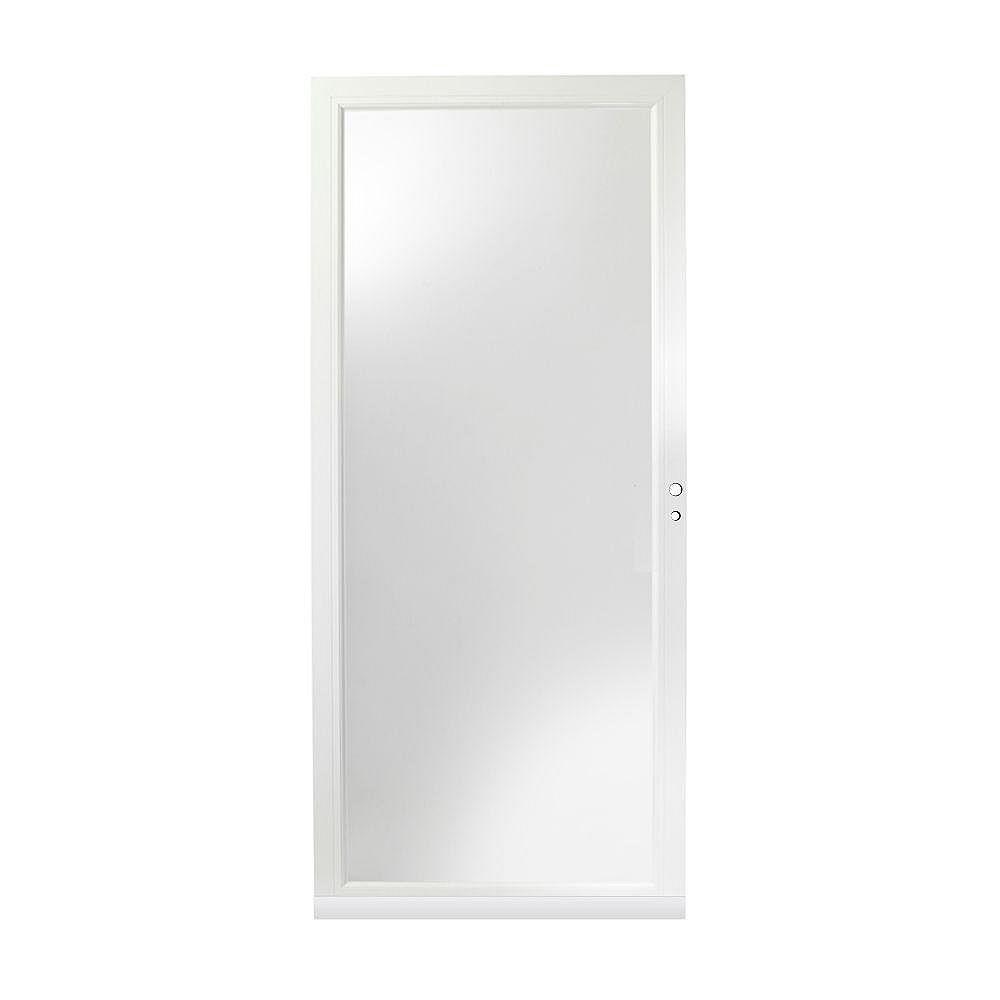 Andersen 4000 Series 32-Inch Full View Interchangeable Storm Door In White Right Hand