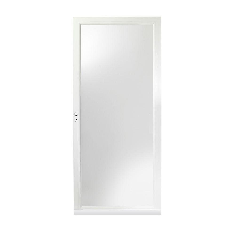 Andersen 4000 Series 34-Inch Full View Interchangeable Storm Door In White Left Hand