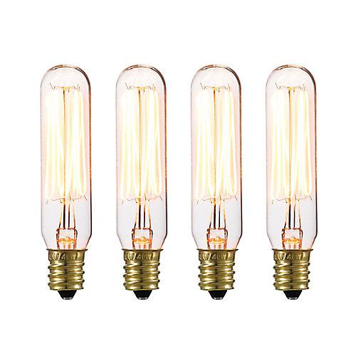 Ampoule incandescente mini-tube vintage Edison de 40W (paquet de 4)