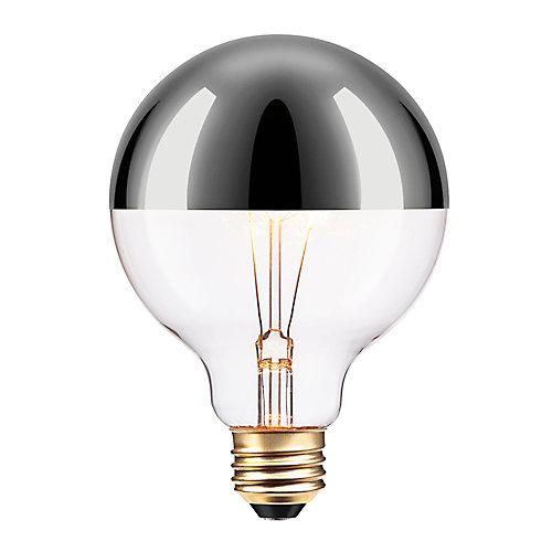 Ampoule incandescente Argentée à design Vintage Edison, 40W de Chromeo