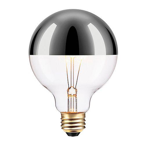 Globe Electric Ampoule incandescente Argentée à design Vintage Edison, 40W de Chromeo