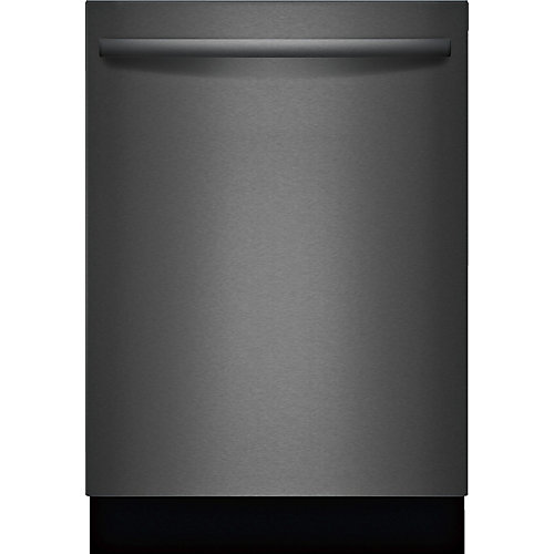 100 Series - 24 inch Dishwasher w/ Bar Handle - 48 dBA - Standard 3rd Rack - Black Stainless Steel