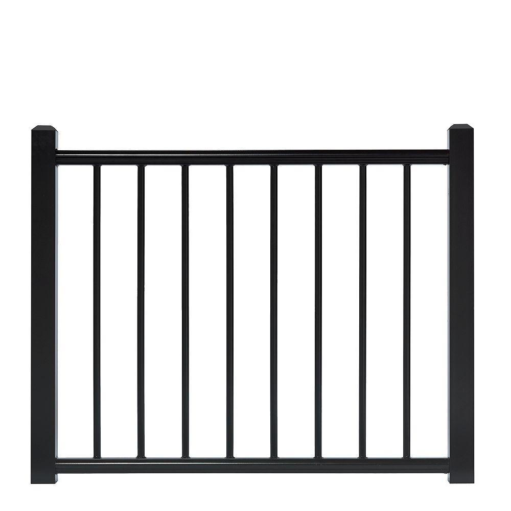 Deckorail 45.5 inch x 36 inch Adjustable Black Aluminum Deck Gate
