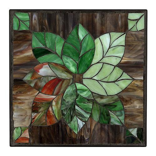 12 inch x 12 inch Leaf Stepping Stone